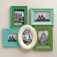 Aqua and Green Morgan Frames, Set of 5 - World Market