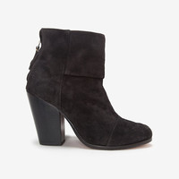 rag & bone Classic Newbury Harley Suede: Asphalt-High Heel-Boots-Shoes-Categories- IntermixOnline.com