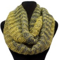 GO BRONCOS Extra 10% off already to make 25 use Code SUPERBOWL Blended 2Tone Mottled Knit Infinity Scarf