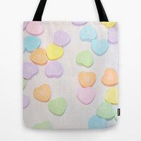 Pastel Hearts Tote Bag by Lisa Argyropoulos