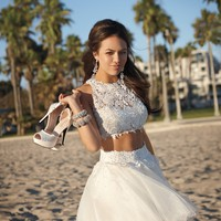 Two-Piece Dress with Glitter Tulle Skirt from Camille La Vie and Group USA