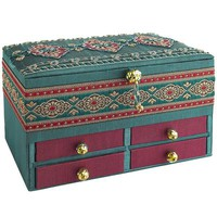 Beaded Jewelry Box - Teal