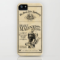 Scary Alice Apothecary - Mad Hatter iPhone & iPod Case by VectoriaDesigns