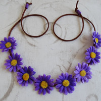 Flower Halo Purple or Blue Small Daisy, Flower Crown, EDC, Coachella, Ezoo, Rave, Festival