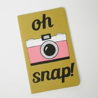 Customized Hand Painted Notebook, Moleskine journal, sketchbook, Retro Camera Art, Oh Snap!