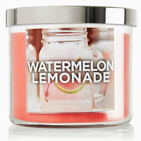 Bath & Body Works New WATERMELON LEMONADE 3-Wick Filled Candle 14.5 oz