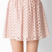 Enchanting Eyelet Skater Skirt