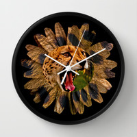 WILD DAISY Wall Clock by catspaws