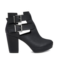 New Look Cutter Cut Out Ankle Boots