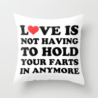 Love Is... Throw Pillow by LookHUMAN