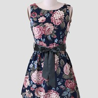 Cassie Floral Sash Belt Dress