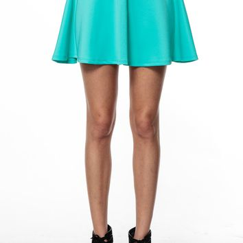 Mint Green Flowy Skater Skirt @ Cicihot Pants Online Store: sexy pants,sexy club wear,women's leather pants, hot pants,tight pants,sweat pants,black pants,baggy pants