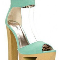 WOODEN ANKLE STRAP SANDAL-kiwilook