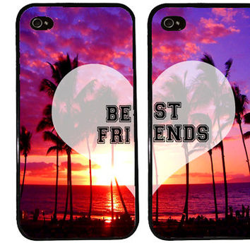 BFF Case / Paradise Sunset Summer iPhone 4 Case Best Friends iPhone 5 Case iPhone 4S Case iPhone 5S Case One 4 Your BFF Set Phone Case Gift