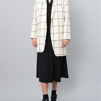 Creatures of Comfort Nicholas Jacket- Window Pane Cream