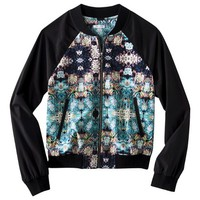 Xhilaration® Junior's Bomber Jacket - Floral