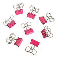 See Jane Work Binder Clips Bow Clips Pink Pack Of 8 by Office Depot