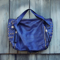 Tucker Studded Tote in Midnight