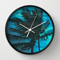 Swimming Palm Wall Clock by catspaws