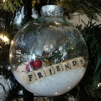 Christmas Ornaments, FRIENDS, Clear Glass Ornaments, Personalized Ornaments, Christmas Tree Decorations, Christmas Tree Ornaments