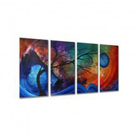 "All My Walls Cosmic Collision by Megan Duncanson, Abstract Wall Art - 23.5"" x 48"" - MAD00066 - Decor"
