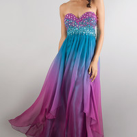 Floor Length Embellished Dave and Johnny Prom Dress