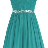 Sunvary Short Rhinestone Waist Chiffon Cocktail Homecoming Dress for Sweety 16