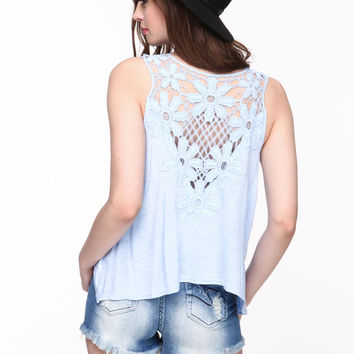 CROCHET BACK TANK TOP