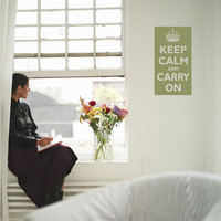 KEEP CALM and CARRY ON Poster Style Vinyl Wall decal