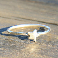 Cyber Monday Etsy   Tiny Star Ring by punkybunny300 on Etsy