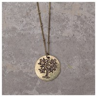 Tree of Life Gold Necklace- Tanya Kara Jewelry