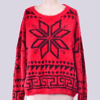 Red snow Flake Sweater