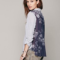 Stripe Print Back Buttondown