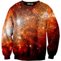 ☮♡ Red Orange Galaxy Sweater ✞☆