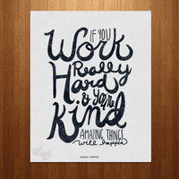 Amazing Things Typography Art Print