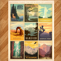National Parks Multi-Design Print