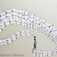Aurora Crystal Extra Long Flapper Necklace by SalvatoCollection