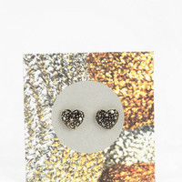 Metal Heart Gift Card Earring - Urban Outfitters