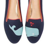 Whale Canvas Smoking Slipper | Ballets & Flats | Shoes | Categories | C. Wonder