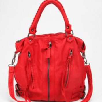 Silence + Noise Zip-Front Moto Hobo Bag