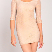 Going in Circles Dress in Nude
