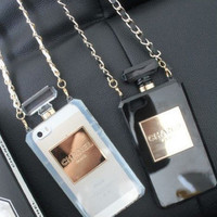 iPhone 5/5s Chanel Inspired Perfume Case Chanel No 5 Number 5 Bag Handbag Cases