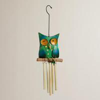 METAL OWL WIND CHIME