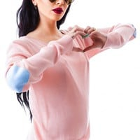 Moon Collection Heart On My Elbow Sweater | Dolls Kill
