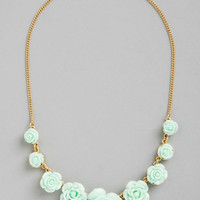 Bead of Roses Necklace in Mint | Mod Retro Vintage Necklaces | ModCloth.com