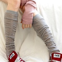 Wrinkle Press Knee High Socks
