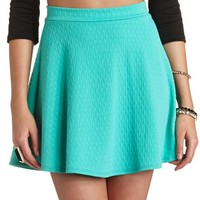 JACQUARD HIGH-WAISTED SKATER SKIRT