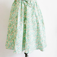 1970s Floral Pastel Tie Circle Skirt by SalvatoCollection on Etsy