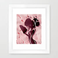 Akiko Asian woman Framed Art Print by LouJah