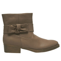 Side Bow Short Boot | Wet Seal
